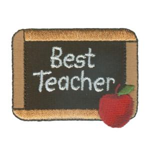 best teacher written on a chalkboard